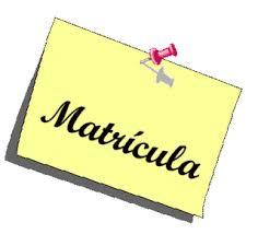 Resultado de imagen de MATRICULA