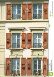 Exterior Of Old Building With Lots Of Windows Stock Photography - Exterior windows
