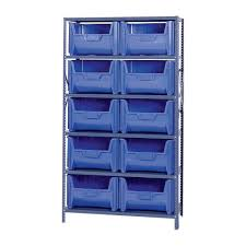 metal storage shelves. quantum storage metal shelving unit with 10 giant hopper bins regard to size 2000 x shelves