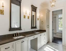 bathroom restoration. Gray And Gold Bathroom With Restoration Hardware Trumeau Mirrors