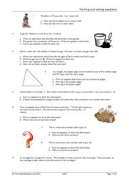 algebra forming and solving equations resource thumbnail
