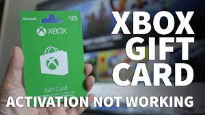 xbox gift card won t redeem or not