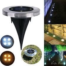 driveway solar light 4 led solar light outdoor ground water resistant path garden landscape lighting yard