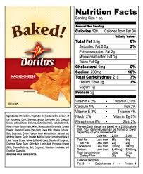 doritos food label doritos nutrition label