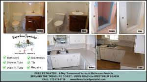 Refinish Bathroom Countertop Bathtub Refinishing And Repair Countertop Resurfacing Palm City Fl
