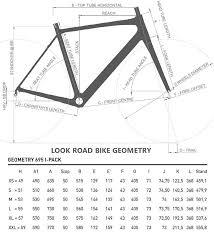 Look 695 Geometry Chart Look 695 Zr Road Frame Black White 2015 X Large