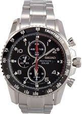 men s seiko chronograph watches new used seiko sportura solar chronograph black dial stainless steel mens watch ssc271