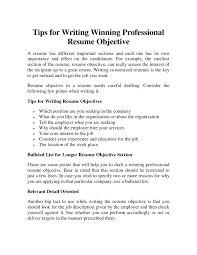 What To Write In Objective In Resume Free Resume Example And