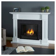 real flame kipling gel fireplace white white
