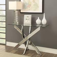 modern glass furniture. Furniture Of America Propel Modern Glass Top Chrome Sofa Table L