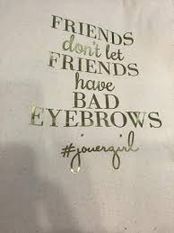 Image result for jouer totebag bad eyebrows