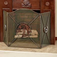 Unique fireplace screens Custom Western Star Fireplace Screen Multi Warm Touch To Zoom Touch Of Class Western Star Horse Themed Metal Fireplace Screen