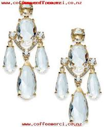 fashion brand gold kate spade new york gold tone crystal chandelier earrings no 925od8dc