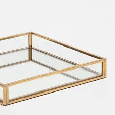 Decorative Metal Tray Gold Metal Mirror Decorative Tray Decorative Accessories
