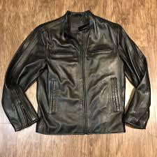 details about men s murano lambs skin leather biker zipper jacket small
