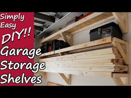 diy garage storage shelves