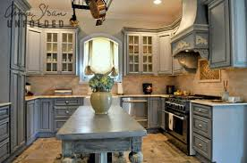 chalk painting kitchen cabinets. Interesting Cabinets Impressive Painting Kitchen Cabinets Chalk Paint And Brocante Home  Collections Paintbrush And Pearls O