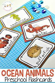 Aquatic Animals Chart Free Printable Ocean Animals Flashcards For Preschoolers