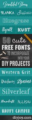best free fonts to for crafts and diy projects cute cool and professional