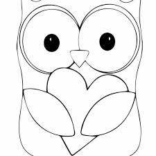 Owl Tracing Template With Baby Owl Coloring Pages Free Printable Owl
