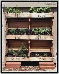 diy eaasy projects vertical herb garden ideas best of make your own vertical pallet herb garden