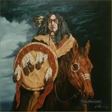american indian portrait oil paintings