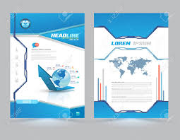 Cover Page Layout Template Technology Style Vector Illustration