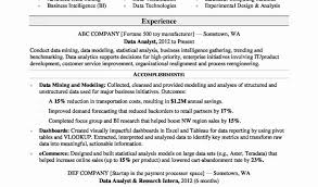 Business Intelligence Resume Inspirational Tableau Report Examples