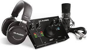 Amazon.com: M-Audio - Complete Recording Bundle - USB Audio Interface,  Microphone, Shock mount, Cable, Headphones and Software Suite - AIR 192|4  Vocal Studio Pro: Musical Instruments