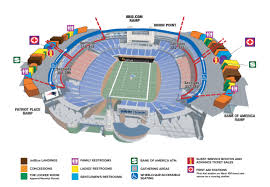 New England Patriots Seating Chart Map Coordinates Gillette Stadium Foxboro Home New England