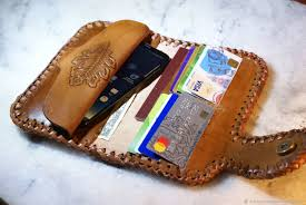 wallets business card holders handmade leather wallet men s schwanzchen my livemaster