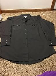 Western Ely Cattleman Mens Long Sleeve Snaps Shirt Easy