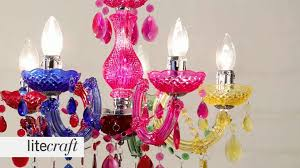 marie therese 5 light multicoloured chandelier litecraft lighting your home