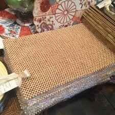 wooden bead placemat