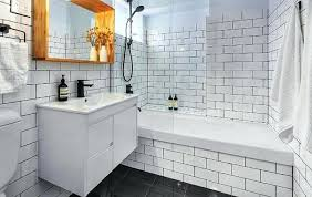 large subway tile large white subway tile large subway tiles in small bathroom