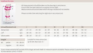 Compression Socks Chart Mediven For Men Compression Socks
