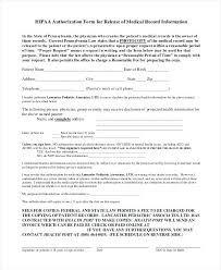 Hipaa Authorization Form Unique Health Record Release Form Template Medical Records Tatilvillamco
