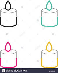 Light Style Am Christmas Candle Neon Light Style Stock Vector Art