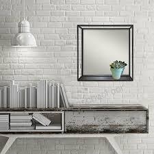 elsa l 47145 metal wire decorative wall mirror shelf 18 cube black b075zl87f7
