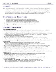 Telecom Resume Examples Summary Resume Examples Resume and Cover Letter Resume and Cover 51