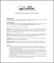 Sample Landscaping Contract Landscape Maintenance Template