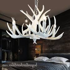 pure white deer antler chandelier ceiling lights bedroom lighting with trendy white antler chandelier view