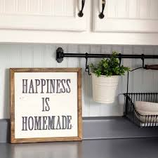 Decorations For Kitchen Walls Happiness Is Homemade Handpainted Sign Handmade 12x12 Wall Sign
