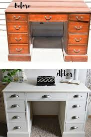 White desk with drawers on both sides Small White Desk Makeover Timeless Creations Llc Pinterest White Desk Restyle Painted Furniture Ideas Diy Pinterest