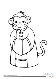 Coloring Pages Monkeys New Year Monkey Colouring Page Free Coloring