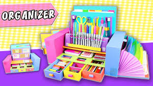 desktop organizer from cardboard back to school apasos crafts diy invidious