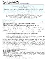 Sample Cardiac Nurse Resume Cardiac Nurse Specialist Sample Resume Podarki Co