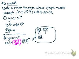 write a power function given two points