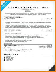 Tax Preparer Resume Samples Tax Preparer Resume Tax Preparer Resume Sample Jackson Hewitt Tax