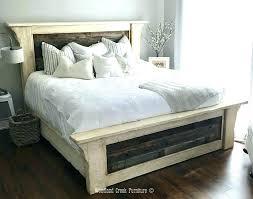 reclaimed wood bed frame. Reclaimed Wood Bed Frame Gray Farm Platform Grey King Size